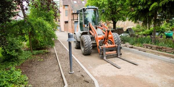 Wegebau für Privatkunden in Helmstedt mit Steinpflaster.